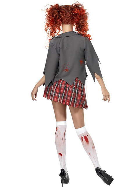 Zombi iskolás lány felnőtt jelmez