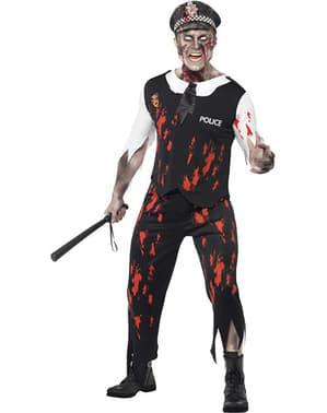 Déguisement de policier zombie