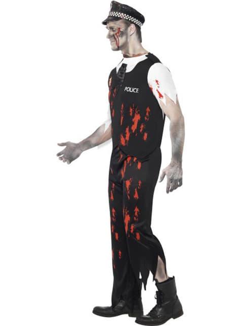 Disfraz de policía zombie - hombre