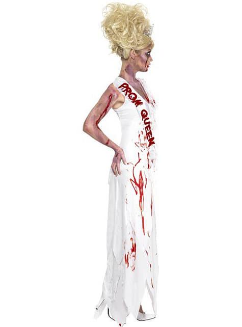Fato de rainha da festa zombie