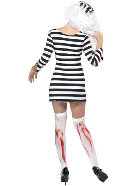 Zombie Dame Innsatt Voksenkostyme