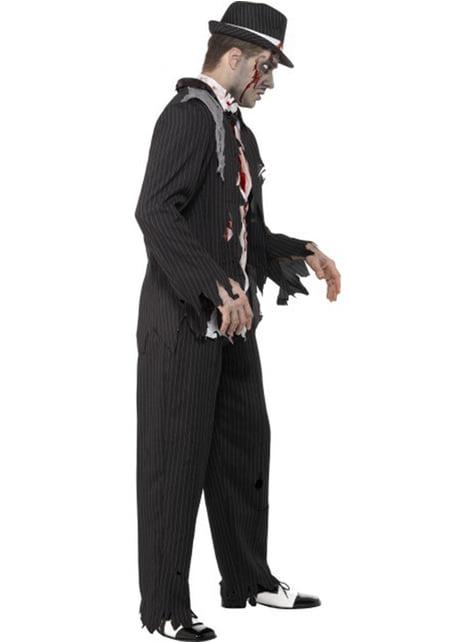 Disfraz de gángster zombie - hombre