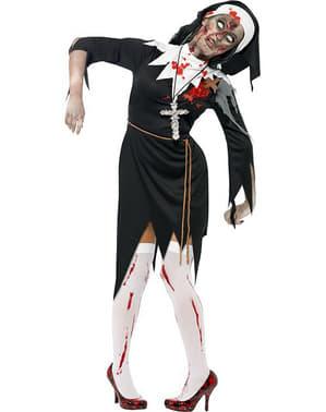 Costume da suora zombie