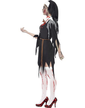 Kostým pro dospělé zombie jeptiška