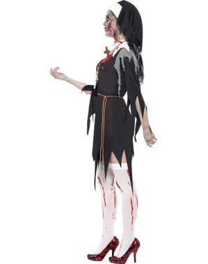 Zombie Nonne Kostyme til Voksne