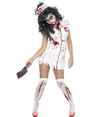 Зомбі блукаючих медсестра дорослих костюм