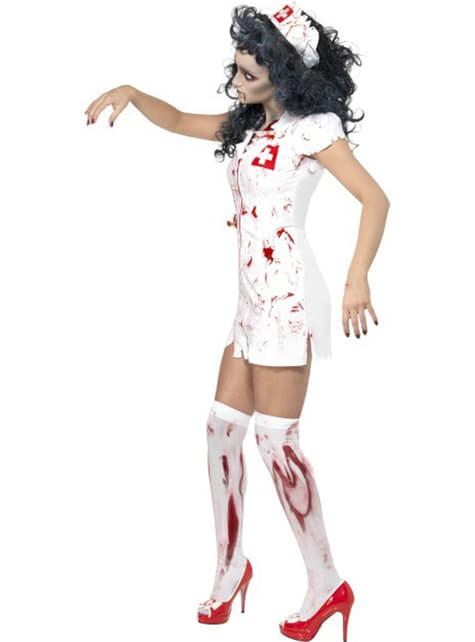 Fato de enfermeira caminhante zombie
