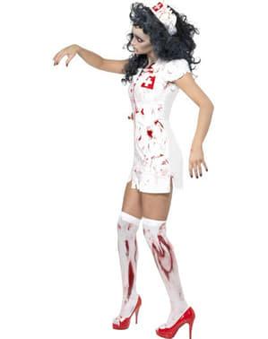 Zombie Krankenschwester Kostüm weiß