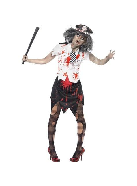 Disfraz de policía zombie mujer