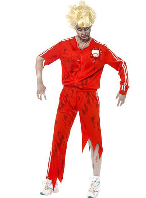 Fato de professora de ginástica zombie