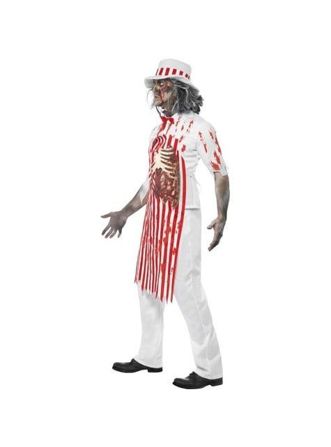 Disfraz de carnicero zombie - hombre