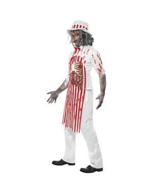 Disfraz de carnicero zombie