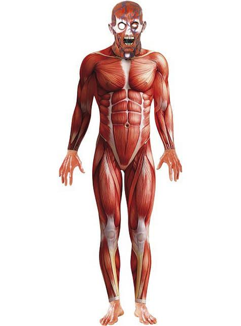 Costume da anatomia umana mostruosa