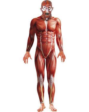 Disfraz de anatomía humana monstruosa