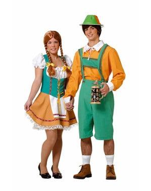 Lederhose Kostüm Tiroler für Herren