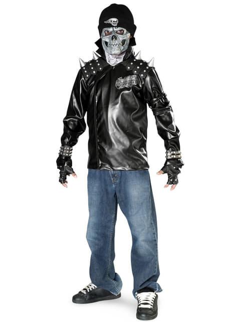Déguisement de squelette motard pour garçon
