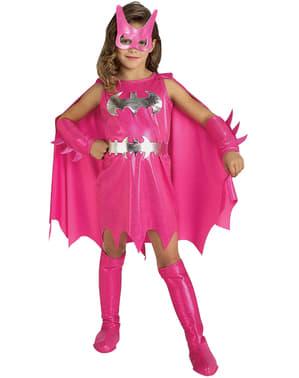 Fato de Batgirl cor-de-rosa para menina