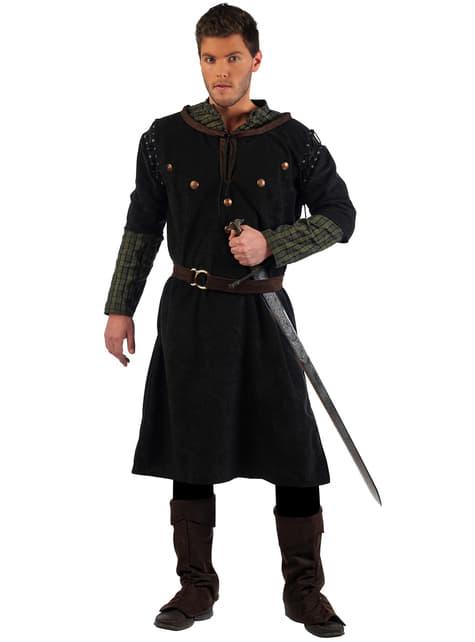 Deluxe Keskiaikainen miekkailija -asu aikuisille