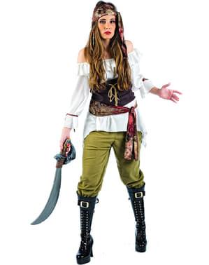 Costume da pirata saccheggiatrice deluxe