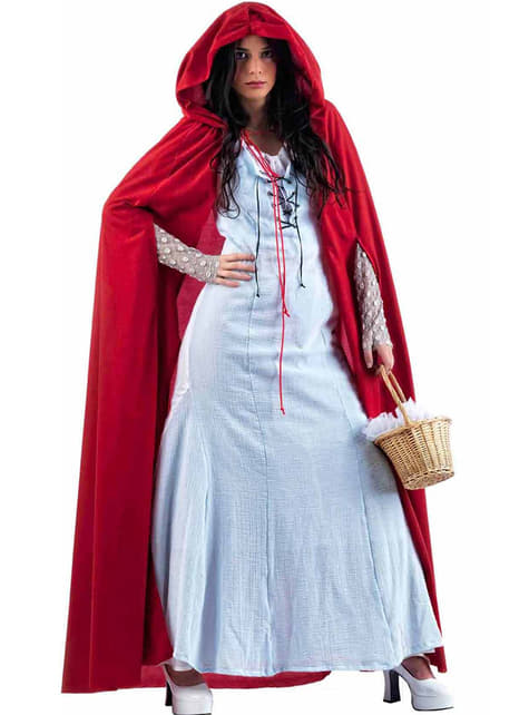 Light-blue Little Red Riding Hood Adult Costume