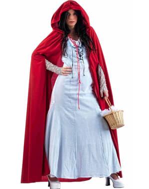 Lyseblå Lille Rødhette Kostyme Voksen