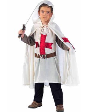 Jungenkostüm mittelalterlicher Templer Ritter