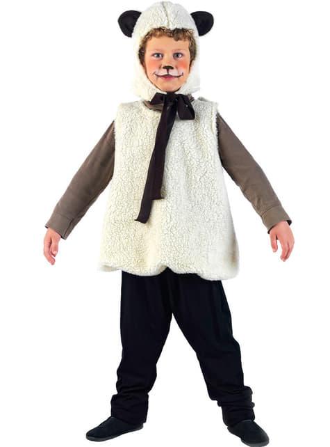 Fato de animaizinhos ovelhinha para menina