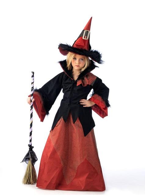 Rood heksenkostuum voor meisjes