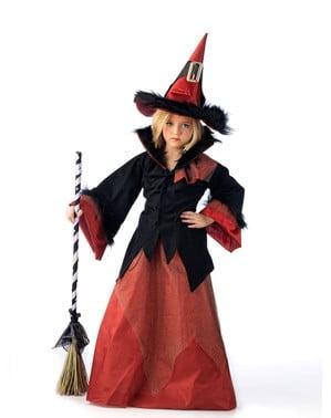 Costum de vrăjitoarea de la țară pentru fată