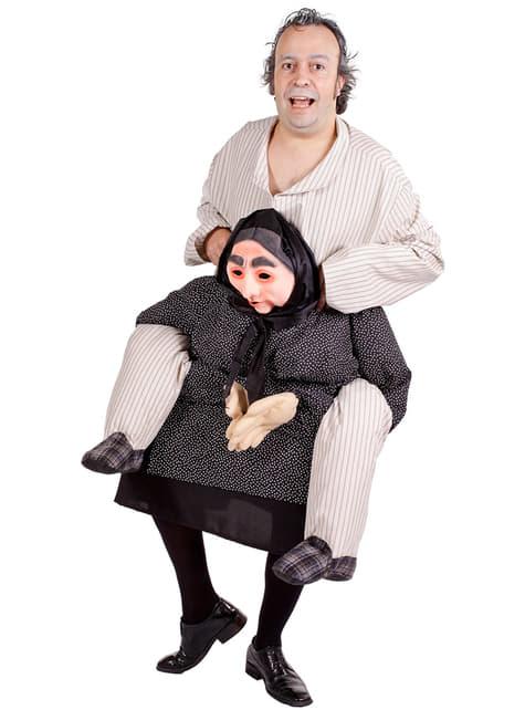 Piggyback oma kostuum