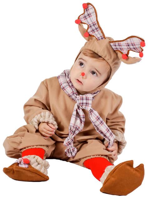 Disfraz de Pelele Reno para bebé