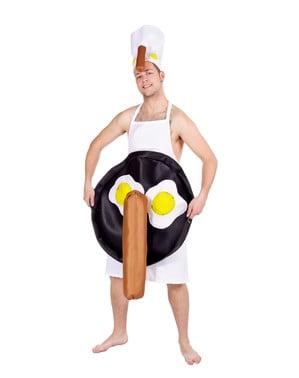 Disfarce de ovos fritos e salsicha