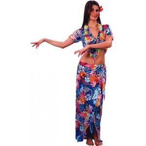 disfraz de hawaiana