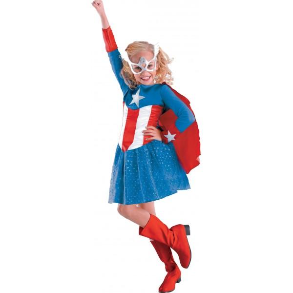 Choisir votre d guisement captain america version cin vs comic id es de d guisements - Captain america fille ...