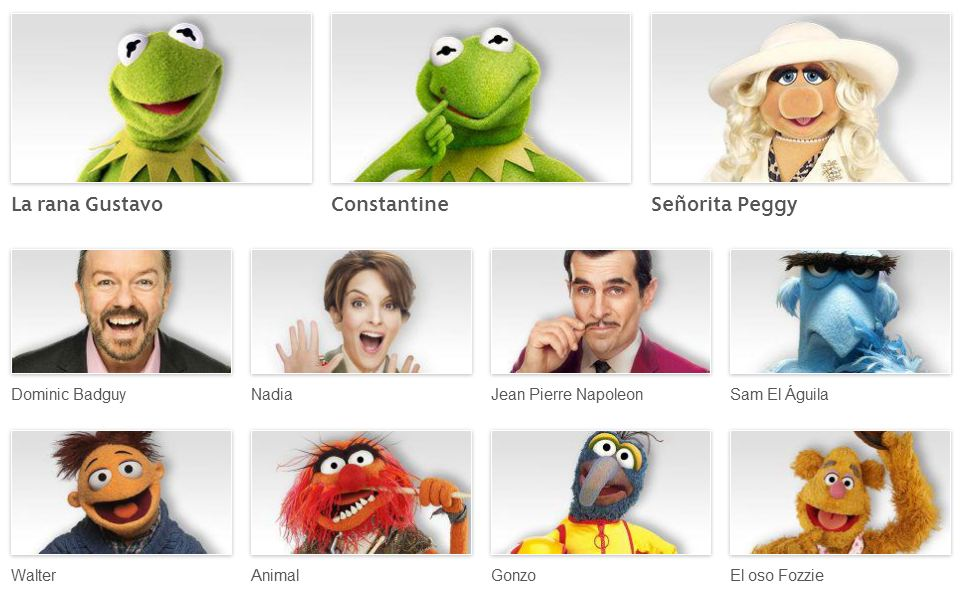 personajes the muppets