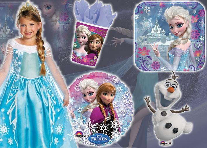 Décorations anniversaire la reine des neiges