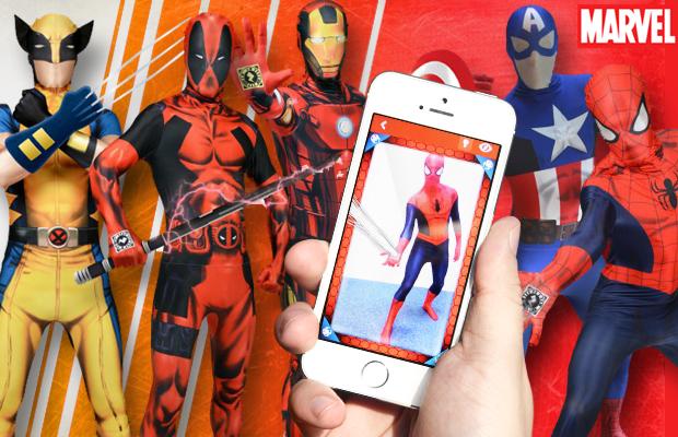 Les costumes Marvel à réalité augmentée