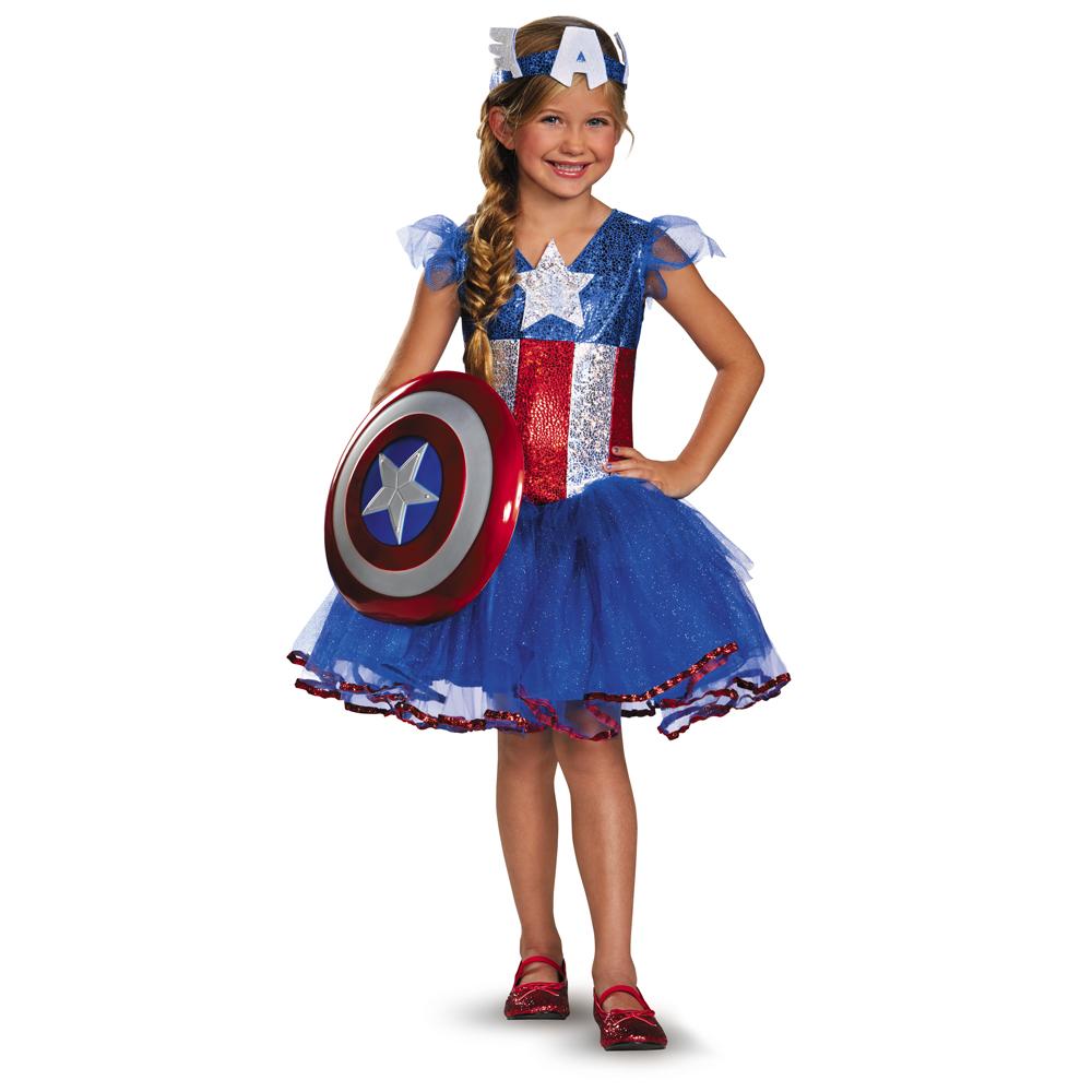 Le monde du d guisement de luxe des costumes plus vrais que nature - Captain america fille ...