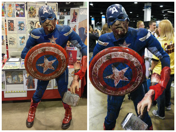 disfraz-captain america- zombie