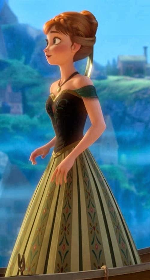 Vestido anna frozen verde
