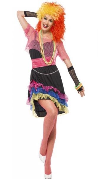 Disfraz de cantante de los 80 Cindy para mujer