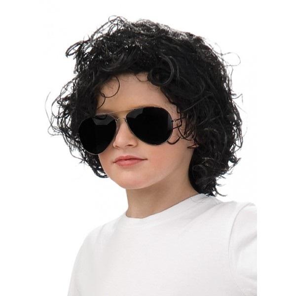Peluca de los 80 de Michael Jackson para niño