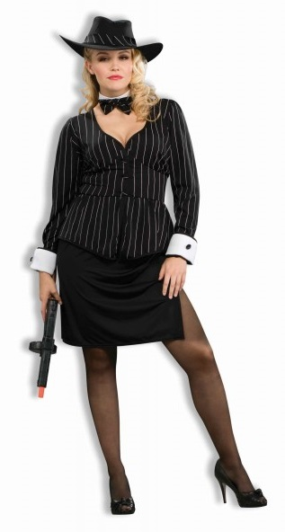 disfraz de gangster para mujer