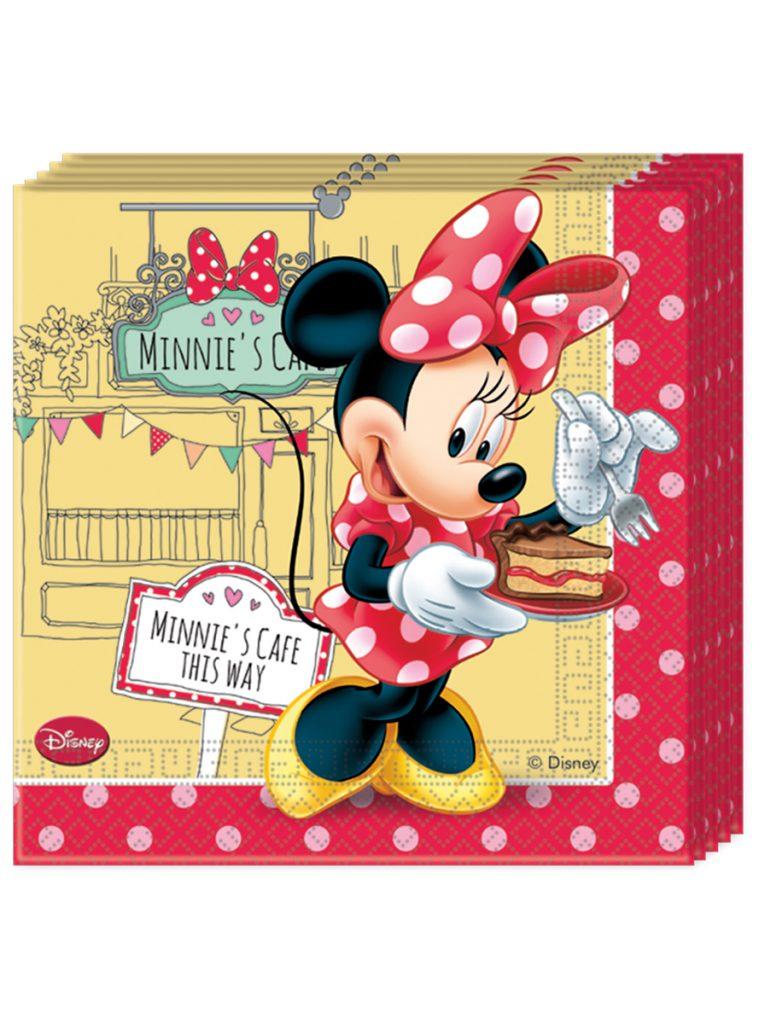 Servilletas Minnie Mouse rojas