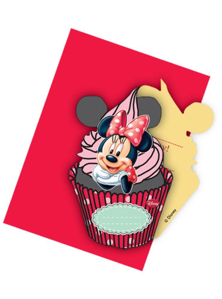 Invitaciones Minnie Mouse café