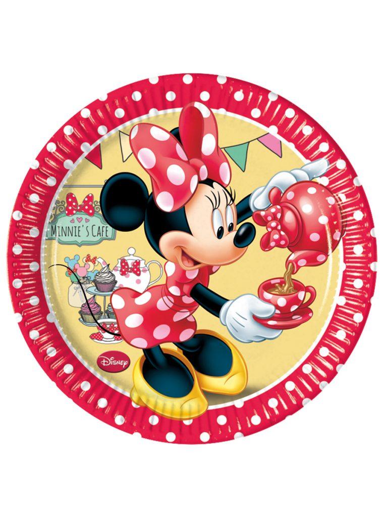 Platos Minnie Mouse rojos