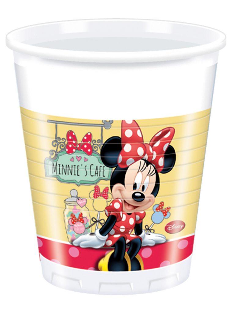 Set vasos Minnie rojos