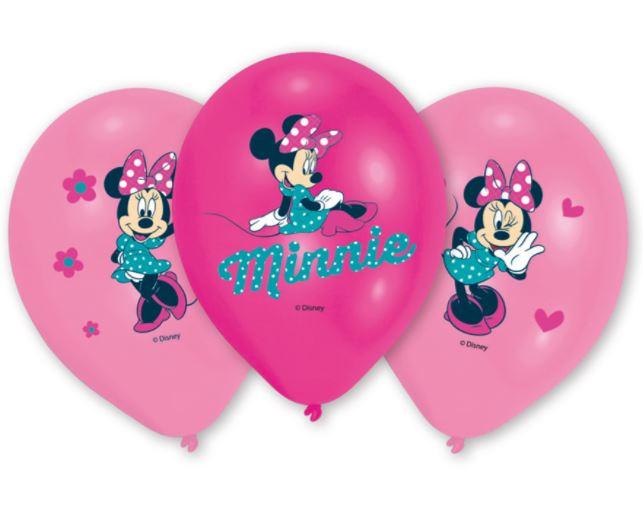 Set 6 globos Minnie Mouse