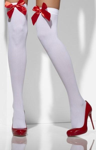 medias-sexy-blancas-con-lazos-rojos