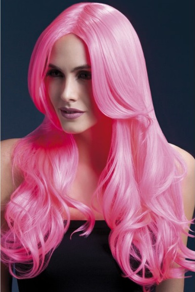 peluca-khloe-rosa-neon mia and me